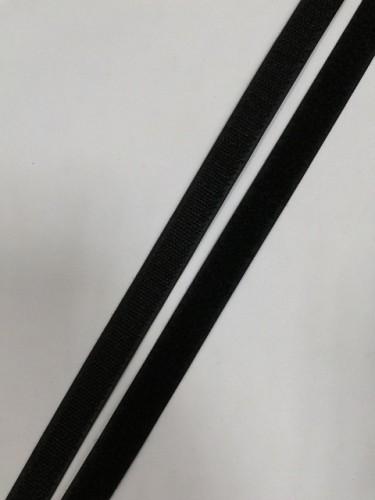 Липучка 020мм цв.черный(в рул.25м)