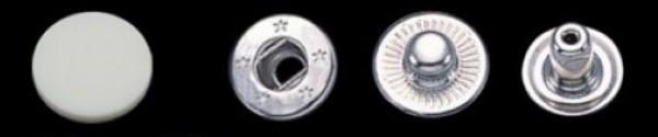 Головка пластиковая 15мм для кнопок №61 15мм цв.белый(в упак.720шт)