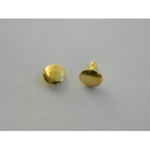 Хольнитен двухсторонний стальной 9*9мм цв.золото(в упак.2000шт)