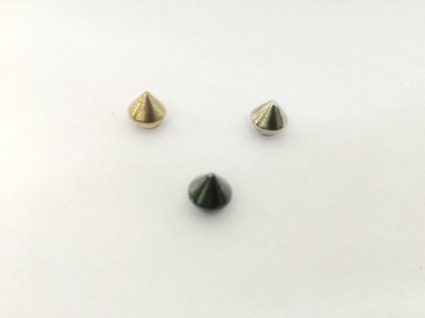 11206RR Шипы металлические на гвоздике 7мм цв.ч.никель