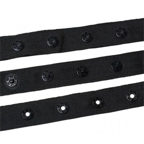 Кнопки на ленте 20мм цв.черный(в рул.45,7м)