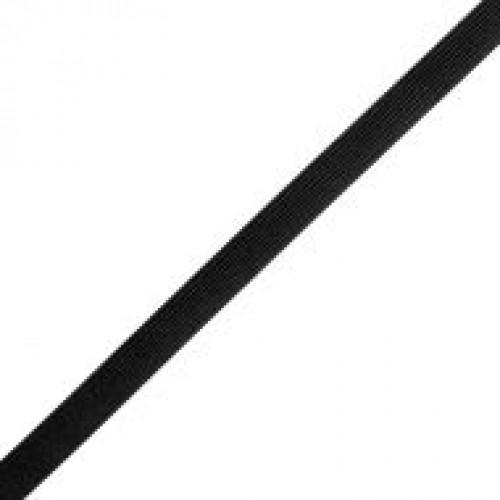 Резинка вязаная стандартная 015мм цв.черный(в рул.100м)