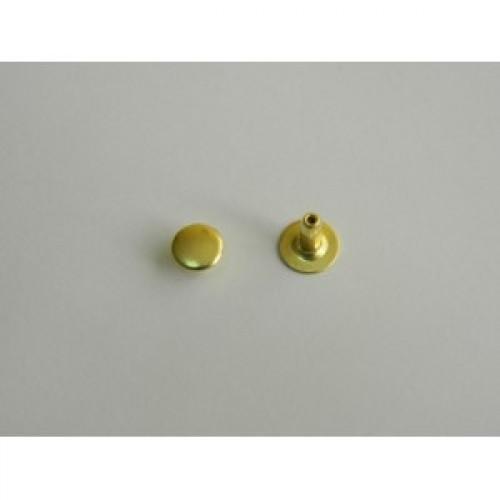 Хольнитен стальной 6*6мм цв.золото(в упак.2000шт)