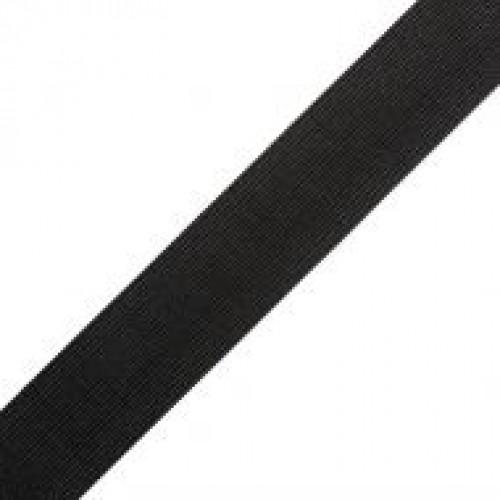 Резинка вязаная стандартная 040мм цв.черный(в рул.40м)