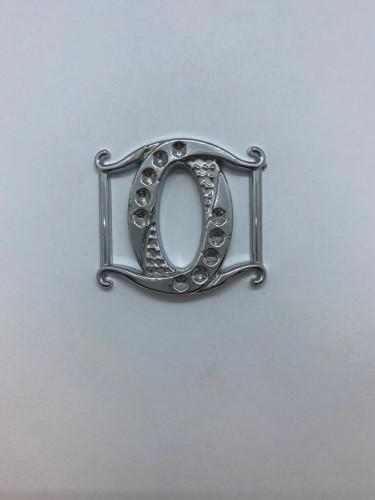 166ТКА Пряжка металлическая 2,5см цв.никель(в упак.500шт)