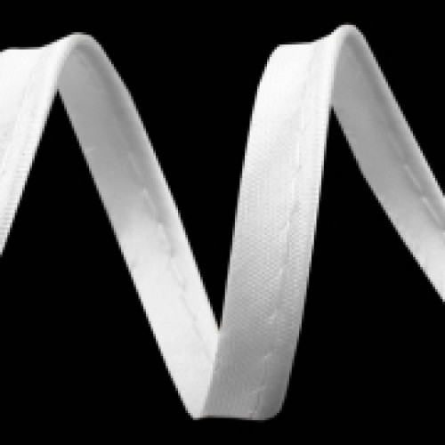 101 Кант атласный цв.белый(в рул.72 Yds)