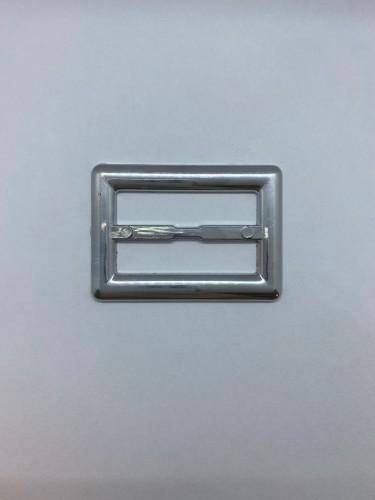 125ТКА Пряжка металлическая 4см цв.никель(в упак.500шт)