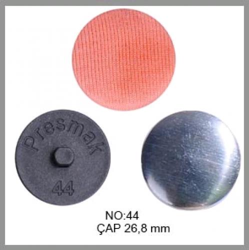 Заготовка для обтяжки пуговиц на пластиковой ножке №44 28мм цв.черный(в упак.250шт)