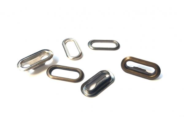 Люверсы овальные стальные 18мм цв.оксид(в упак.1000шт)
