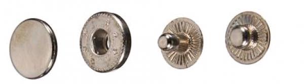 Кнопка стальная VT-2 9,5мм цв.ч.никель(в упак.1440шт)