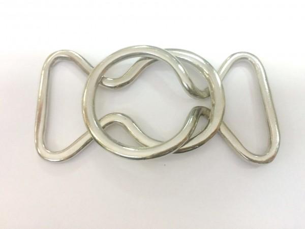 2772TMR Пряжка металлическая декоративная 4см цв.никель(в упак.100шт)