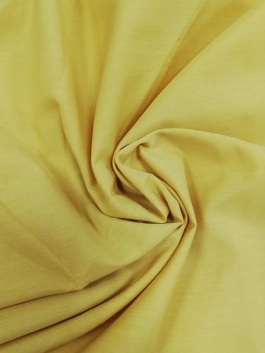 110-1455 Ткань хлопок дакрон однотонный 60%хлопок 40%полиэстер 150см цв.т.желтый(в рул.113 м)