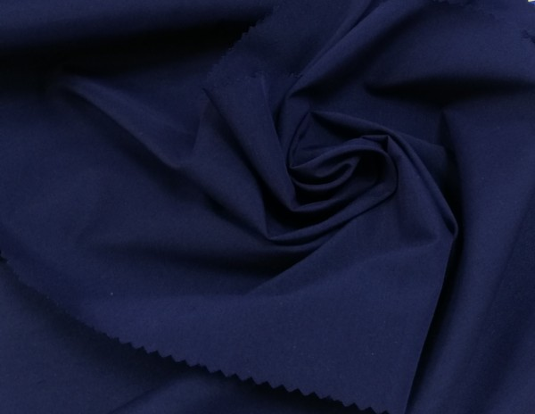 113G1883 Ткань хлопок дакрон однотонный 60%хлопок 40%полиэстер 150см цв.т.синий(в рул.110м)