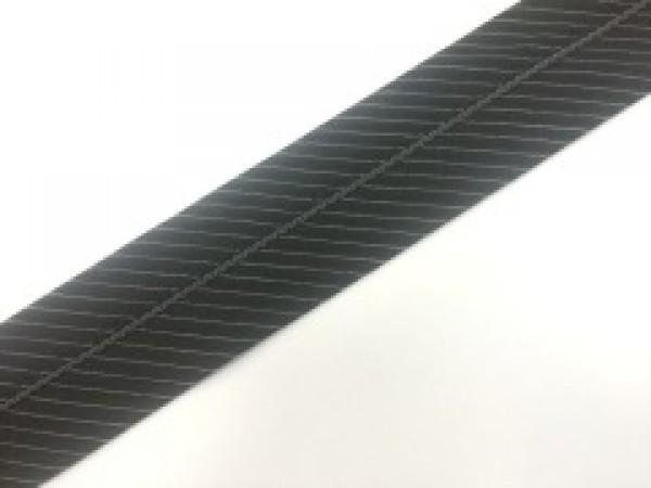 №14 Корсажная лента цв.черный с белой полоской(в рул.67м)