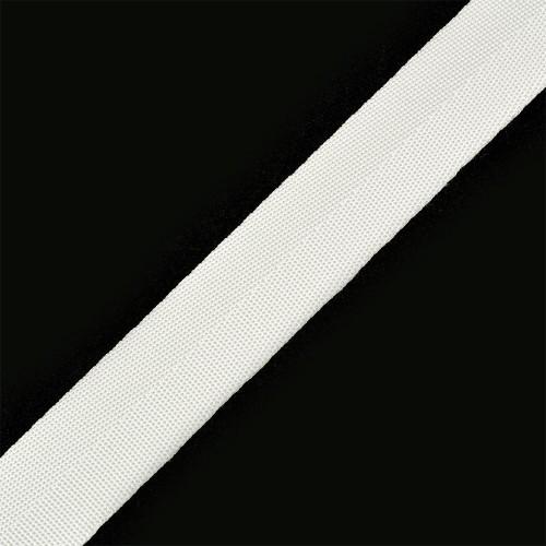 101 Стропа текстильная 25мм цв.белый(в рул.100м)