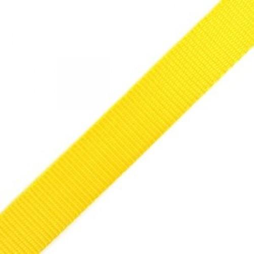 110 Стропа текстильная 25мм цв.желтый(в рул.100м)
