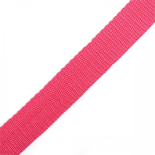 145 Стропа текстильная 25мм цв.малиновый(в рул.100м)