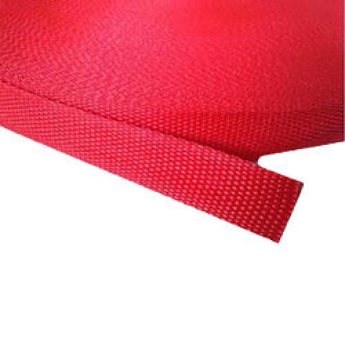 147 Стропа текстильная 25мм цв.красный(в рул.100м)
