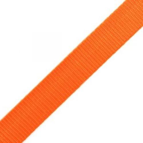 157 Стропа текстильная 25мм цв.оранжевый(в рул.100м)