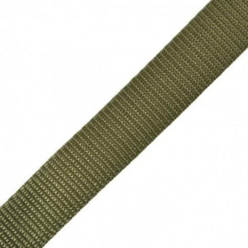 263 Стропа текстильная 25мм цв.хаки(в рул.100м)