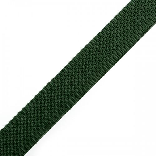 272 Стропа текстильная 25мм цв.зелёный(в рул.100м)