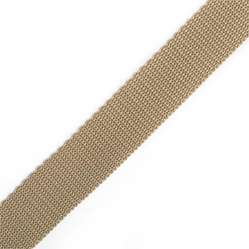 292 Стропа текстильная 25мм цв.т.бежевый(в рул.100м)