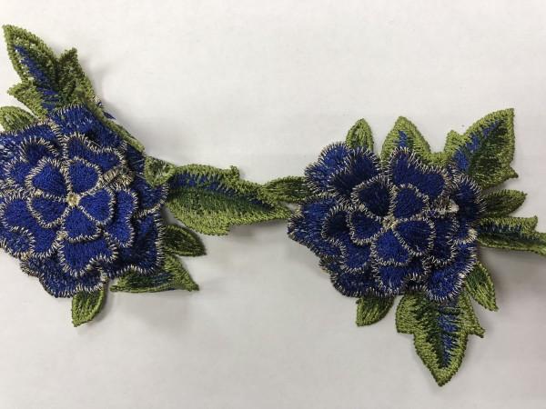 1605 Нашивка с цветами в рулоне цв.223 электрик(в упак.9м)