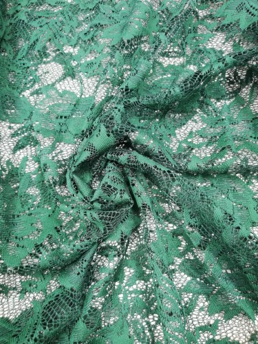 2410 Полотно гипюровое шир.150см цв.зеленый