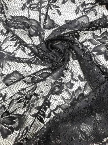 2410 Полотно гипюровое шир.150см цв.черный(в рул.105м)