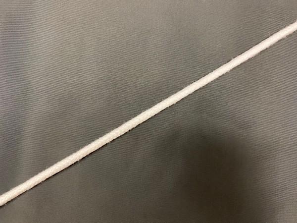 Шнур хлопковый круглый 10мм уплотненный цв.белый(в рул.100м)