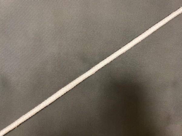 Шнур хлопковый круглый 08мм цв.белый(в рул.100м)