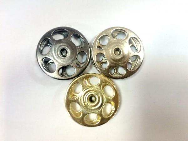 Кнопка пришивная литая 24мм 6-дырочная цв.ч.никель(в упак.100шт)