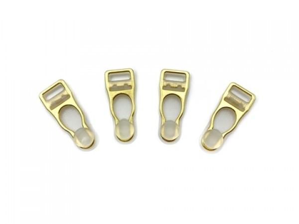 Бельевая застежка для чулок металлическая 10мм цв.прозрачный/золото(в упак.1000шт)