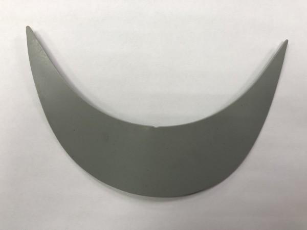 Козырек пластиковый 215*75*55мм цв.серый(в упак.2500шт)