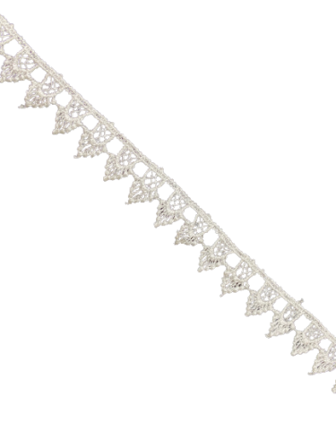 1005TH Кружево вязаное полиэстер шир.2см цв.белый(в рул.8.7м)