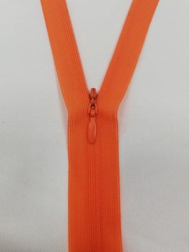 157 Молния потайная Т3 50см цв.оранжевый(в упак.100шт)
