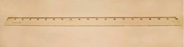 Сантиметр пластиковый цв.прозрачный