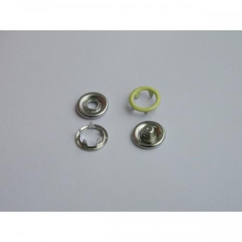 109 Кнопка нержавеющая трикотажная кольцевая 09,5мм цв.св.желтый(в упак.1440шт)