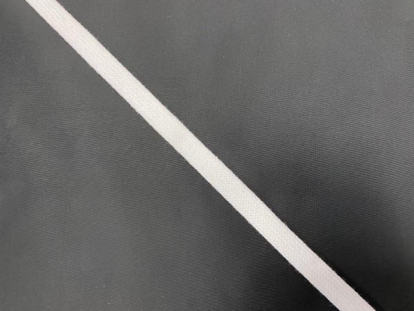 Шнур хлопковый плоский 12мм цв.белый(в рул.100м)