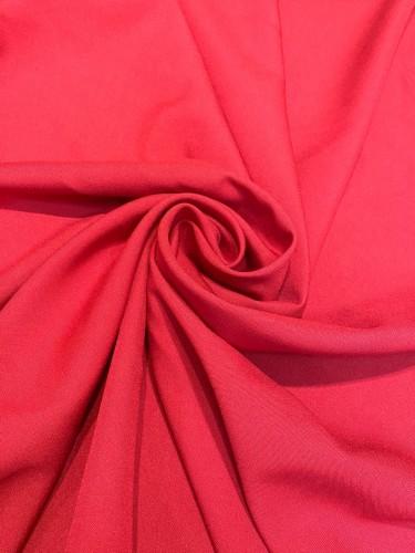 Габардин 230г/м 100%ПЭ цв.красный(в рул.50м)