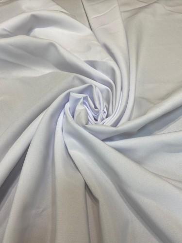 Габардин 230г/м 100%ПЭ цв.белый(в рул.50м)