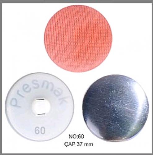 Заготовка для обтяжки пуговиц на пластиковой ножке №60 38мм цв.белый(в упак.250шт)
