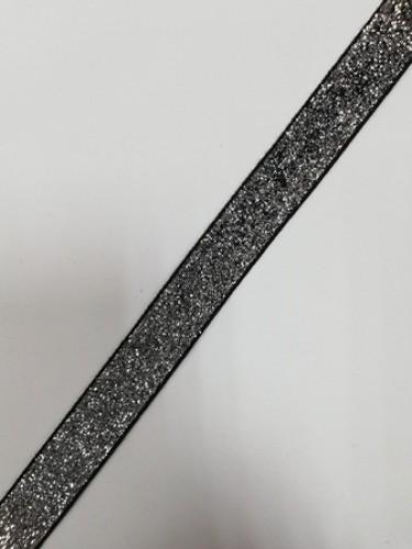 Бархатная лента декоративная №10 20мм цв.черный(в рул.91,5м)