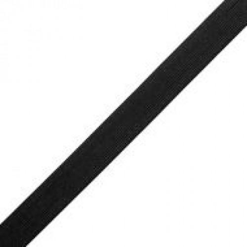 Резинка вязаная стандартная 025мм цв.черный(в рул.50м)
