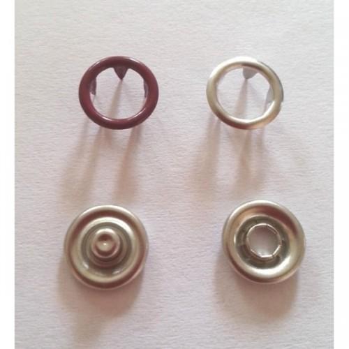 163 Кнопка нержавеющая трикотажная кольцевая 09,5мм цв.бордо(в упак.1440шт)