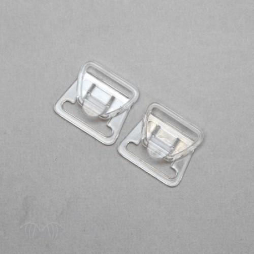 Бельевая застежка двухщелевая для кормящих мам 17мм цв.прозрачный(в упак.1000шт)