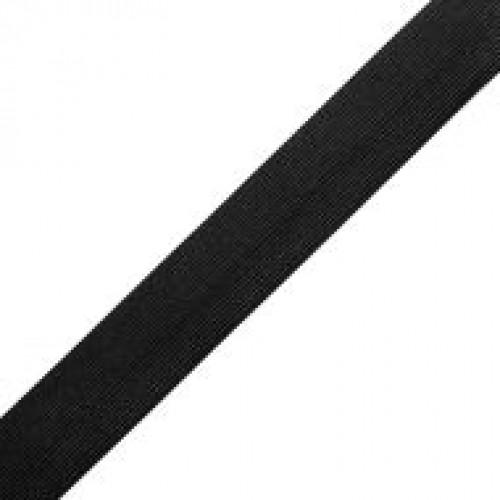 Резинка вязаная стандартная 035мм цв.черный(в рул.25м)