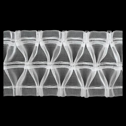 Шторная тесьма №060 baklava 60мм цв.прозрачный(в рул.50м)