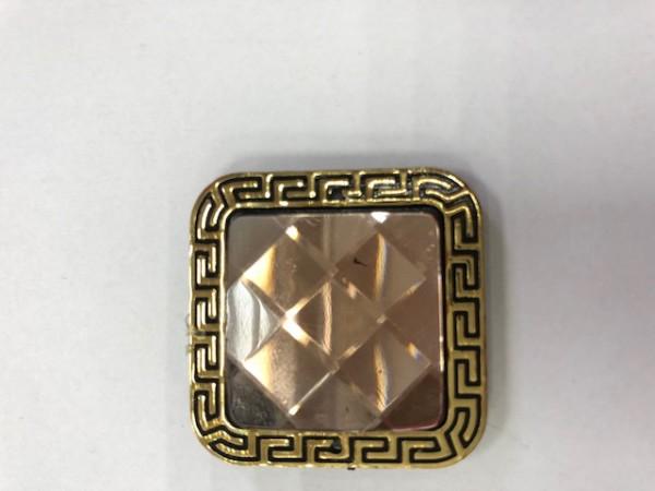 K01 Стразы декоративные пришивные Gold R-9(в упак.50шт)