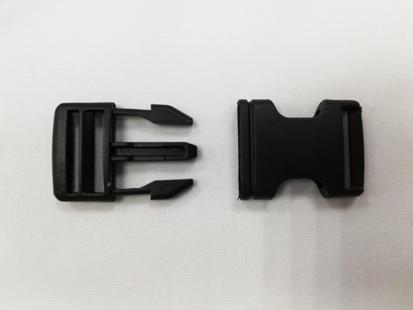 Фастекс пластиковый 25мм цв.черный (в упак.200шт)